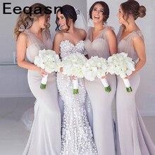2019 Cheap Bridesmaid Dresses Mermaid V Neck Long Wedding Pa
