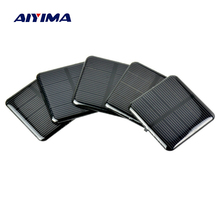 Aiyima 10Pcs 50*50MM Solar Panels 2V 160MA Epoxy Solar Cell Monocrystalline Silicon Solar Panel Battery Cell DIY For Charging