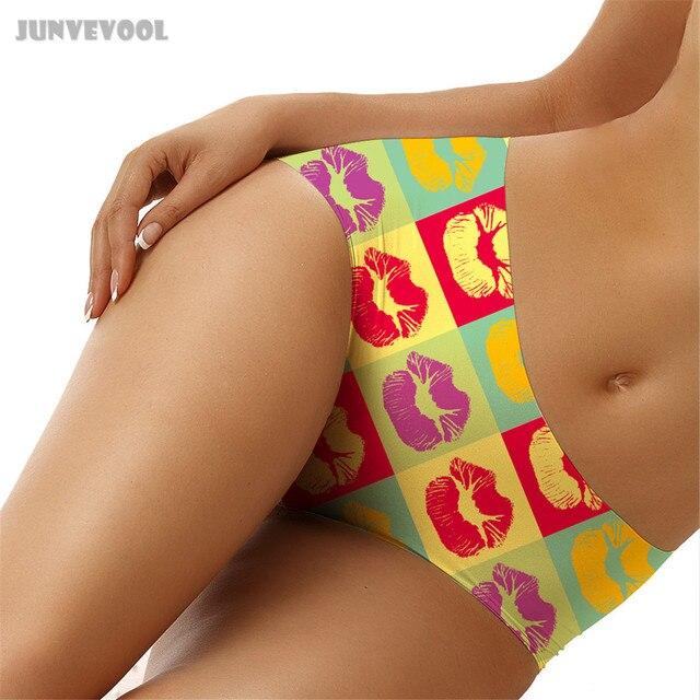 Women Sexy Lingerie Thong Womens Thongs Lips Print Woman Gird Seamless Panties Ladies Underwear Lingerie Briefs Underpants Brief