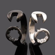 Dolaime New Men retro stainless steel Fashion punk wrench ring Men's  high quality jewelry accessories GR595