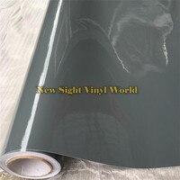 3 Layer Ultra Gloss Cement Gray Vinyl Wrap Super Glossy Grey Car Body Wrap Size 1