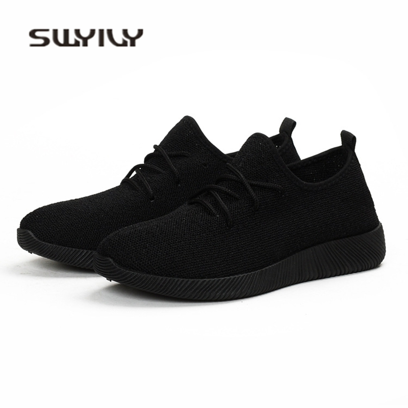 SWYIVY Women Sneakers Light Weight 2018 41 Woman Casual Shoes Slip On Lazy Shoes Comfortable Candy