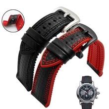 In Fibra di carbonio Del Silicone Watch Band 18 millimetri 20 millimetri 22 millimetri 24 millimetri Cinturino Cinturino per Omega Braccialetto di Gomma Accessorio cintura impermeabile