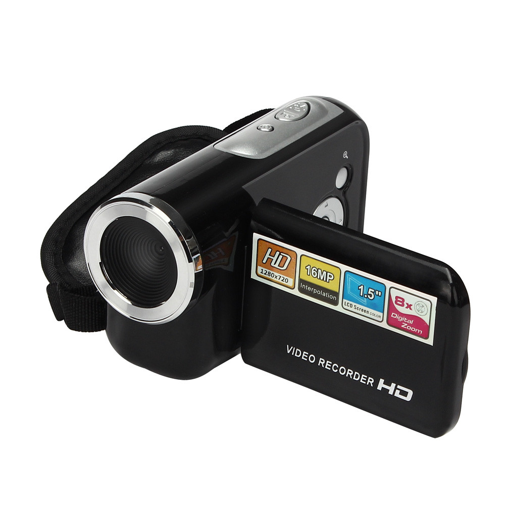 Hot Sell Professional Video Camera HD 12MP DVR 1.8'' TFT LCD Screen 4X ZOOM Digital Video Camcorder image