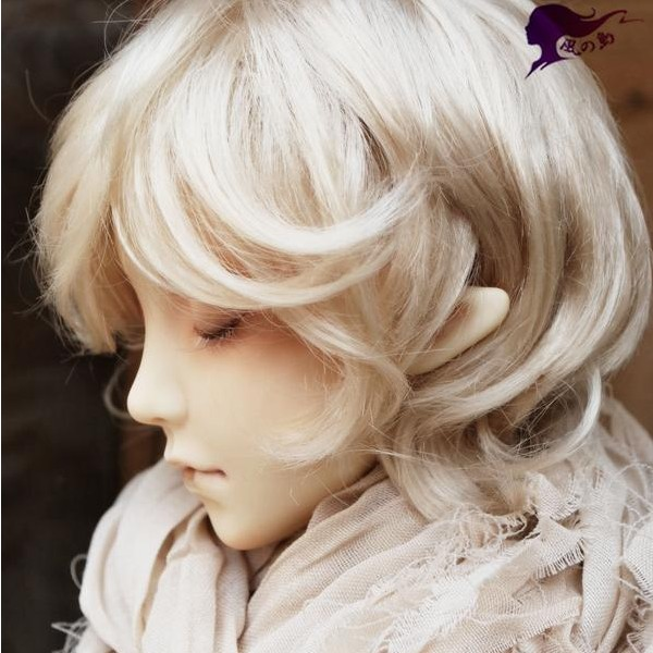 doll accessories 1/3 Bjd wig doll hair slightly wavy curly short hair island original wig romantic angel roll boy girl fzd61-2 uncle 1 3 1 4 1 6 doll accessories for bjd sd bjd eyelashes for doll 1 pair tx 03