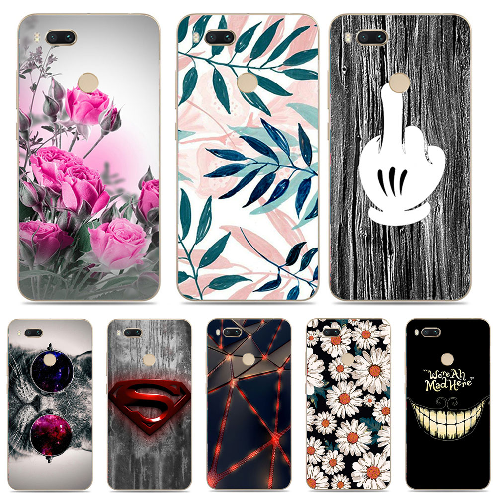Xiaomi Mi A1 Case Silicone Cover 55 Soft Tpu For Cafele 5x Mi5x Mia1 Tempered Glass Clear Hd Painted Phone Cases