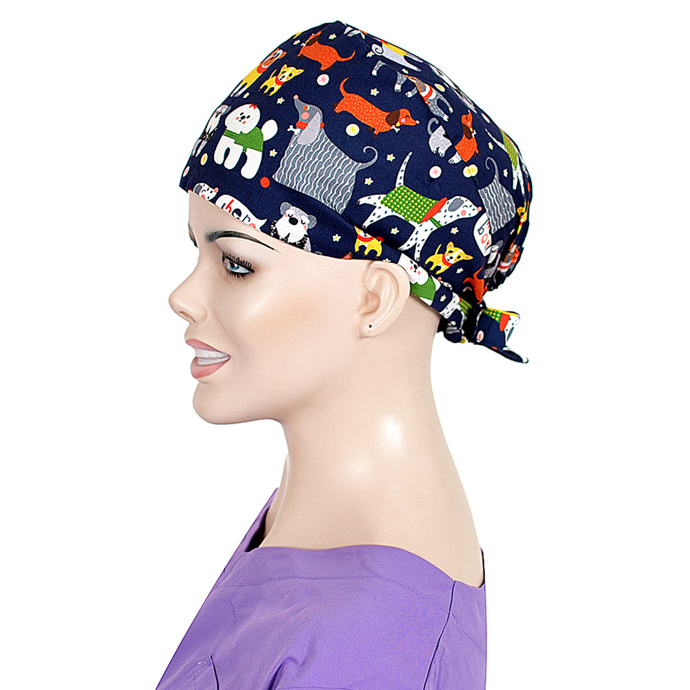 Unisex Veterinaria Surgical Scrub Cap Adjustable Medical Caps Hospital Scrub Lab Clinic Dental Operation Hat Doctor Nurse Cap