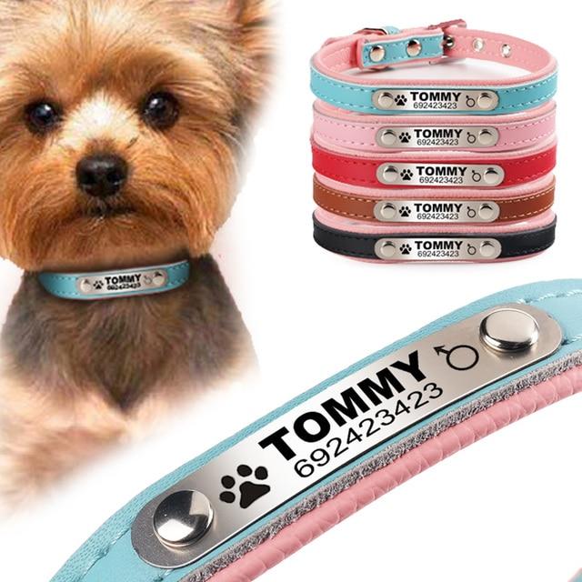 flowgogo anti lost personalized engraved dog collar braided custom