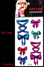 Nice 3D Body Art Sleeve Arm Hand Stickers Glitter Temporary Tattoos Small Bowknot Bows Waterproof For Body Painting Gift