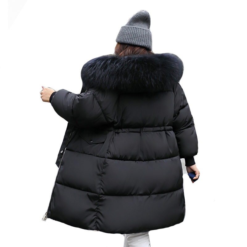 Cotton Padded 2019 New Arrival Fashion Womens Winter Jackets Warm Thicken Hooded Female Long Coats Coat Padded   Parka     Parkas