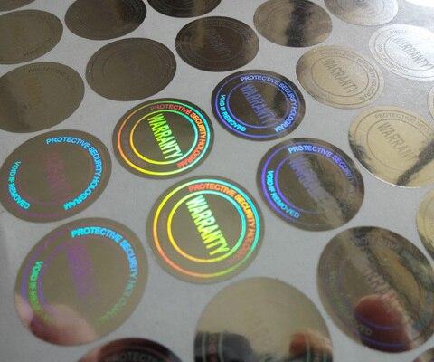 etiqueta do holograma vazio se removido e