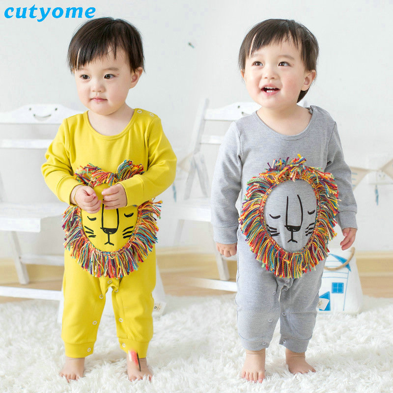 Cutyome Spring Baby Boys Clothes Long Sleeve 3d For Animal Rompers For Infant Girl Newborn Jumpsuits Clothing Cotton Pyjamas baby clothes newborn boys and girls jumpsuits long sleeve 100%cotton solid turn down baby rompers infant baby clothing product