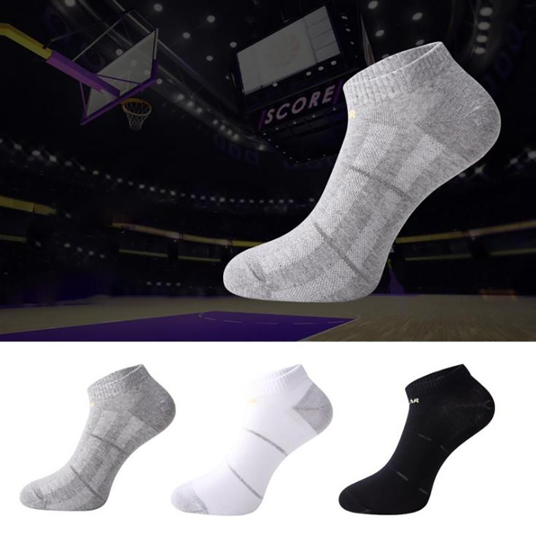Men Casual Fashion Print Ankle Length Socks Summer Low Cut Socks Black, Gray, White Stripe