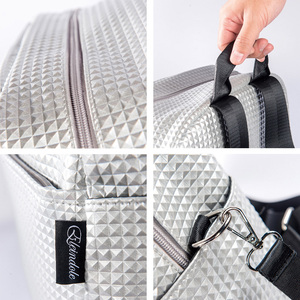 Image 5 - Eleindole Women Multifunctional Carriage Bags 18L Baby Care Bag Materniry Silver Female Fashion Backpacks with Stroller Straps