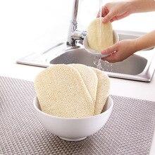 3 шт./компл. люфы для мытья посуды ткань с эффектом потертости; площадку блюдо Чаша Пот легко чистить скруббер кухонная губка для очистки кисти Скраб Pad