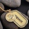 Tide Marca europeia 18 K Chapeamento de Ouro Medusa Pingentes Sweater Cadeia Hop Jóias Acessórios Pingente de Colar dos homens Militar