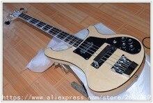 Neue bass gitarre 4 string holz farbe mit Chrome hardware schwarz binding e-bass Qualität freies verschiffen