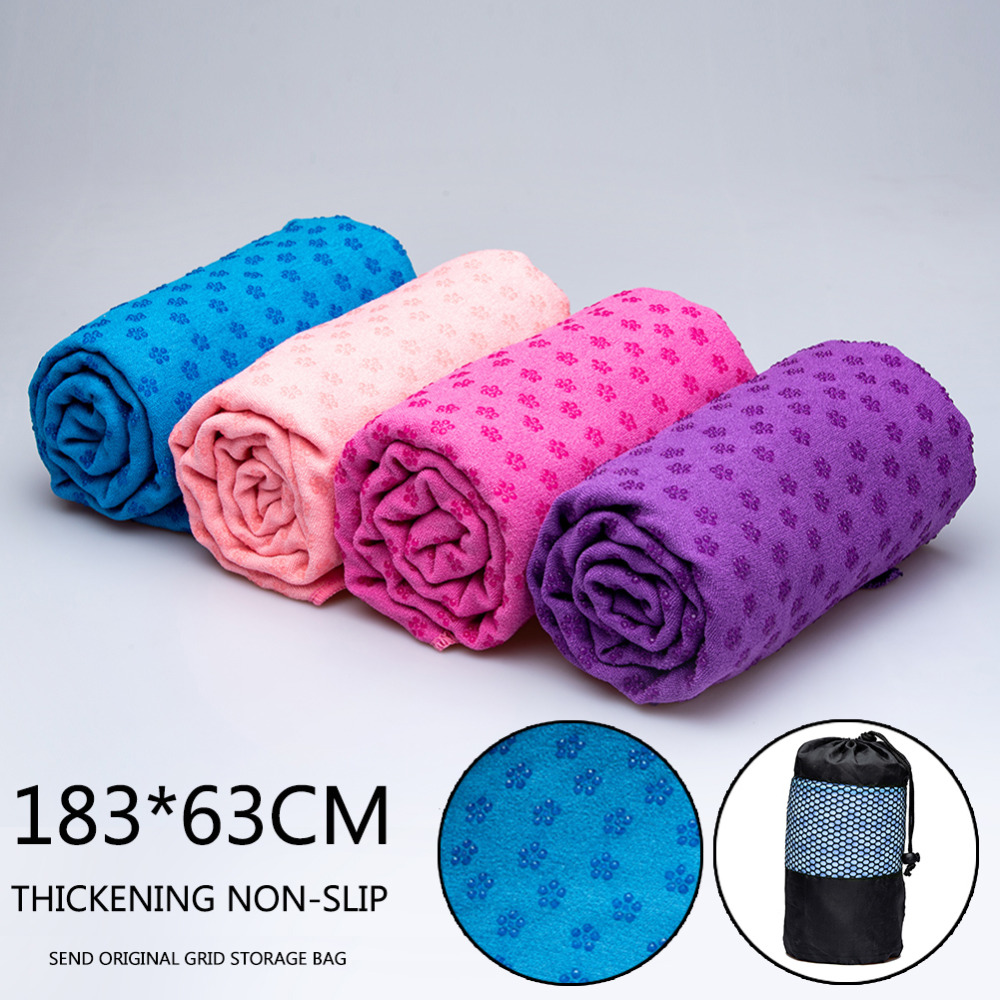 New Non Slip Yoga Towel Yoga Mat Cover Towel Blanket Sport Fitness Exercise Pilates Workout