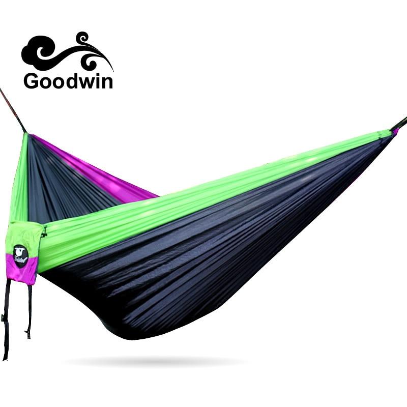 Concave Convexe En Plein Air Loisirs Hamac Parachute Tissu Hamac Double Ultra Léger Respirant Camping Adulte