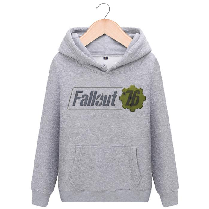 Fallout 76 Hoodies Sweatshirts Men And Women Cotton Fleece Hooded Print fashion Coat Casual Pullovers