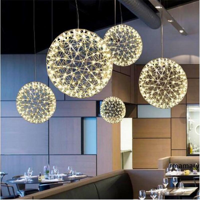 Lights & Lighting Forceful Hand Made Stainless Steel Firework Pendant Light Modern Pendant Lamp Villa Hotel Project Lighting Ball Restaurant Design Sale Price
