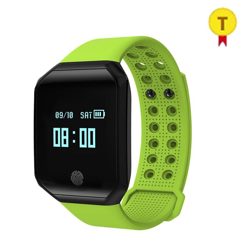 Bracelet de moniteur de fréquence cardiaque de pression artérielle de Bluetooth d'écran tactile d'oled de lien