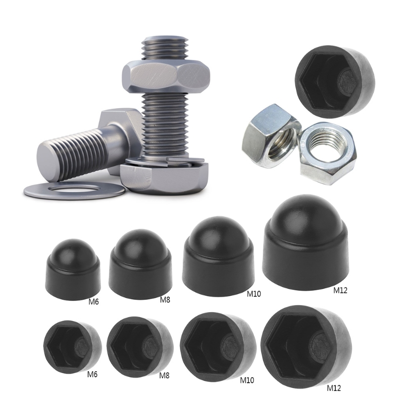10Pcs M6 M8 M10 M12 Bolt Nut Dome Protection Cap Covers Exposed Hexagon Plastic in Nuts Bolts from Automobiles Motorcycles