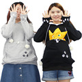 Cat Lovers Hoodies With Cuddle Pouch Sweatshirt For Women Cute Cartoon Casual Kangaroo Pullovers Tracksuit Joggings Sueters