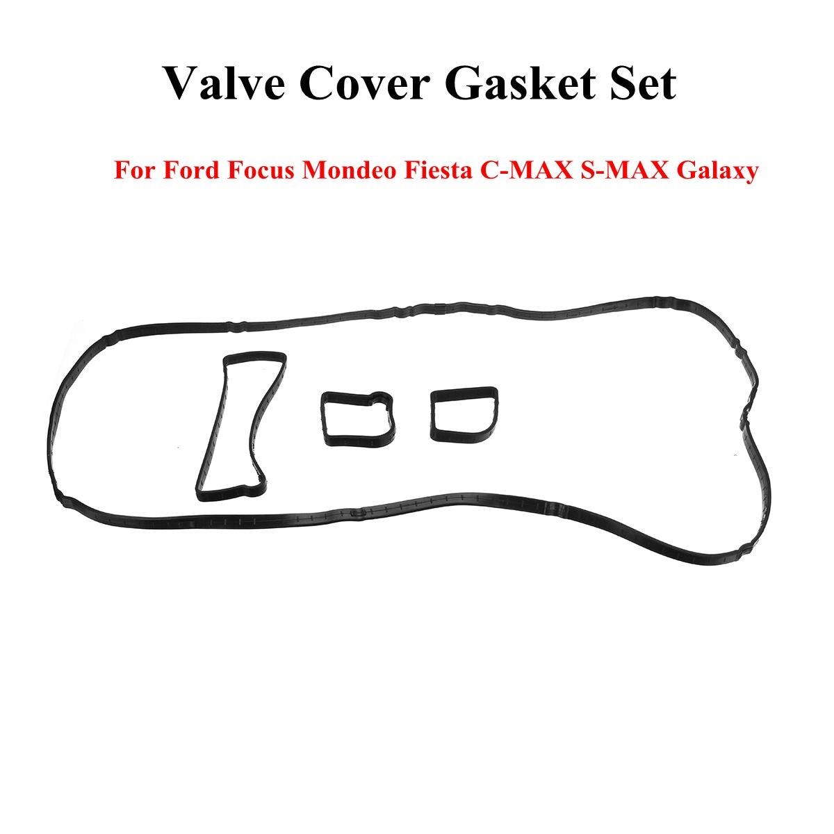 New Rocker Valve Cover Set Seal Gasket Rubber Black For