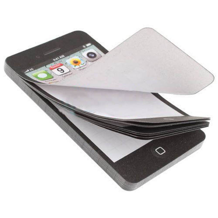 1 PCS Creative Black Fashion Sticky Post It Note Paper Cell Phone Shaped Memo Pad Memo Pads Paper Note Pad DIY For Iphone 5