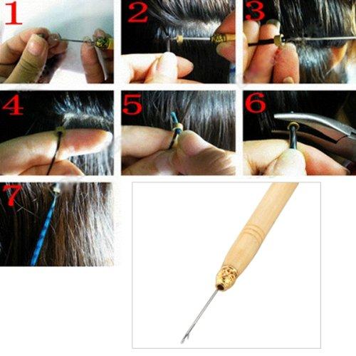 Kit attrezzi per pinza per estensione dei capelli + perline Micro - Utensili manuali - Fotografia 5
