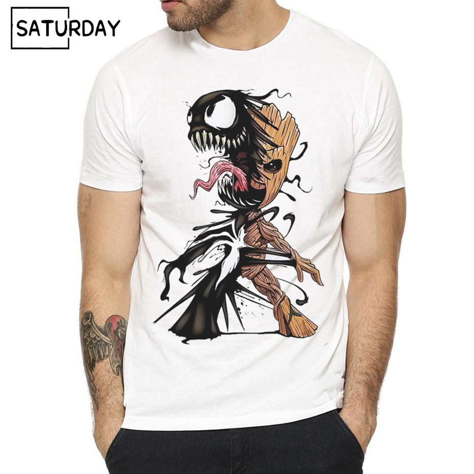 Men's Venom Harajuku   T  -  shirt   Women Spiderman Summer   T  -  shirt   Boy Print Tshirt Anime   T     Shirt   Brand Clothing White Color Tops Tees
