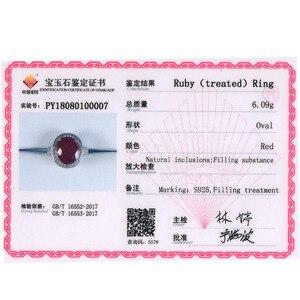 Image 5 - Tbj, thanh Lịch Nhẫn Đính Hôn Với Đá Ruby Tự Nhiên Trong Nữ Bạc 925 Đá Quý Jewelr Cho Nữ Như Một Đám Cưới Valentine Tặng