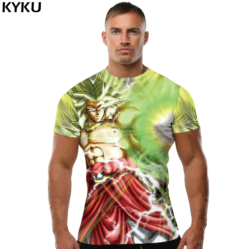 T-shirts Preiswert Kaufen Kyku Dragon Ball Z T-shirt Männer Langarm-shirt Goku Herren Kleidung Grün Haar Lustige T-shirts Licht Welle Kleidung Blitz Oberteile Und T-shirts