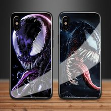 Venom Glass Soft Silicone case For iPhone 6 6s 7 8 Plus X XR XS MAX