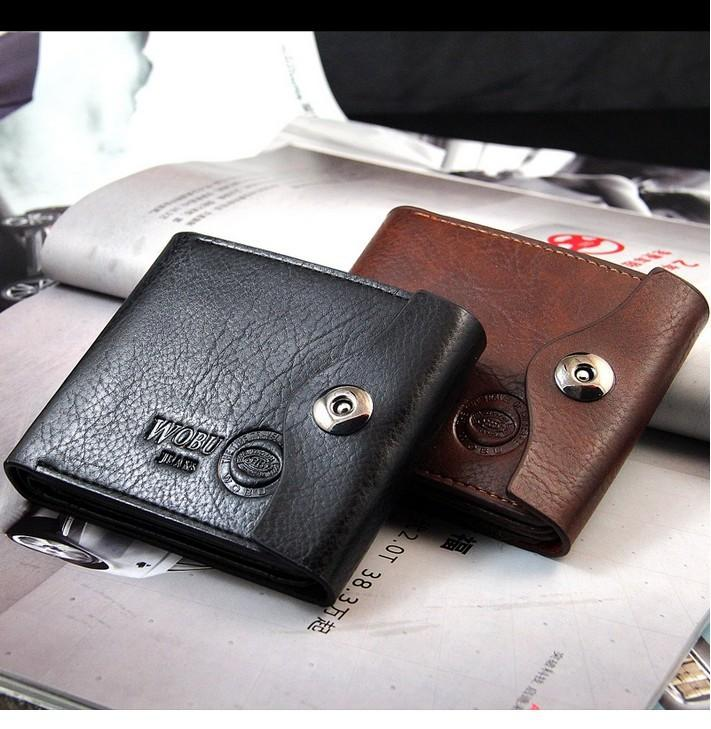 Free Shipping hot sale 2013 Men's casual suction buckle PU leather wallets/purse for men,men's money clip MQB36