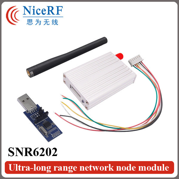 2 unids/pack 2 W 433 MHz Interfaz RS485 5 km Módulo Inalámbrico RF SNR6202 Ultra-largo Rrange