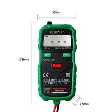 mastech diagnostic-tool multimetro Free shipping Non-Contact Digital Multimeter DC AC Voltage Current Tester With Torch EM33A