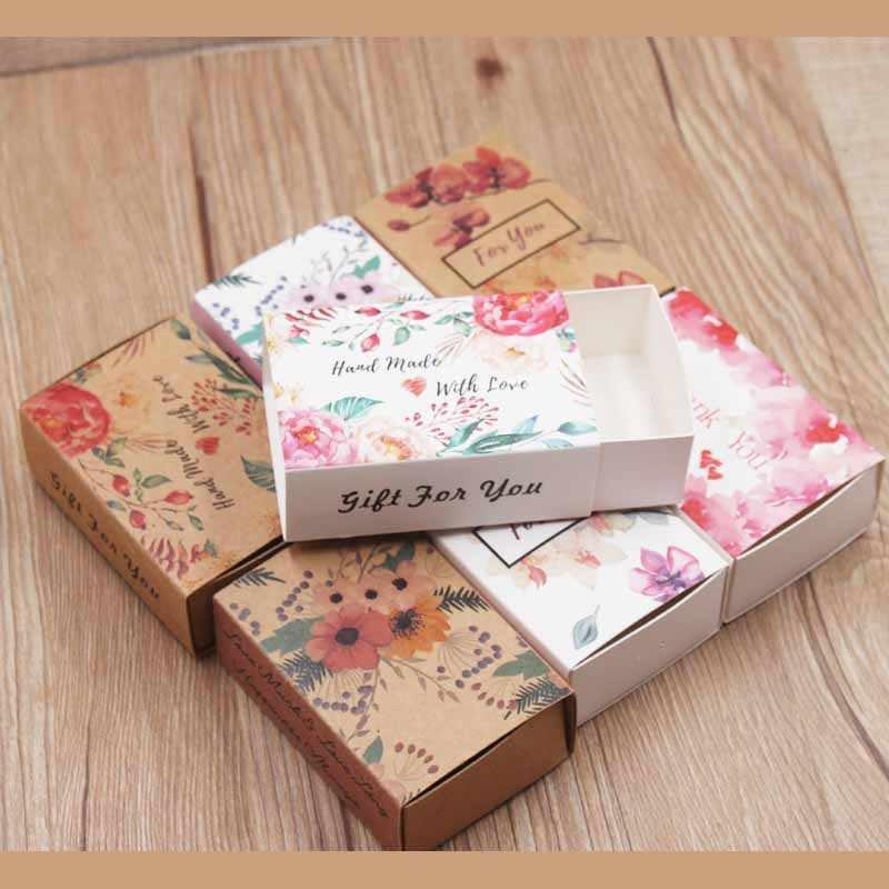 5/nhiều nhiều thiết kế giáng sinh vui vẻ Quà Tặng gói trượt hộp Vintage Kraft Tự Làm Vòng Tay Cảm Ơn bạn Kẹo/ đám cưới ủng hộ hộp