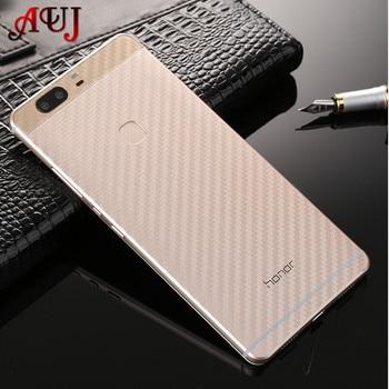 Auj углеродного волокна Экран защита для Huawei P8 p9 P10 lite плюс защита Плёнки для Huawei P8 p9 P10 Lite без закаленное Стекло