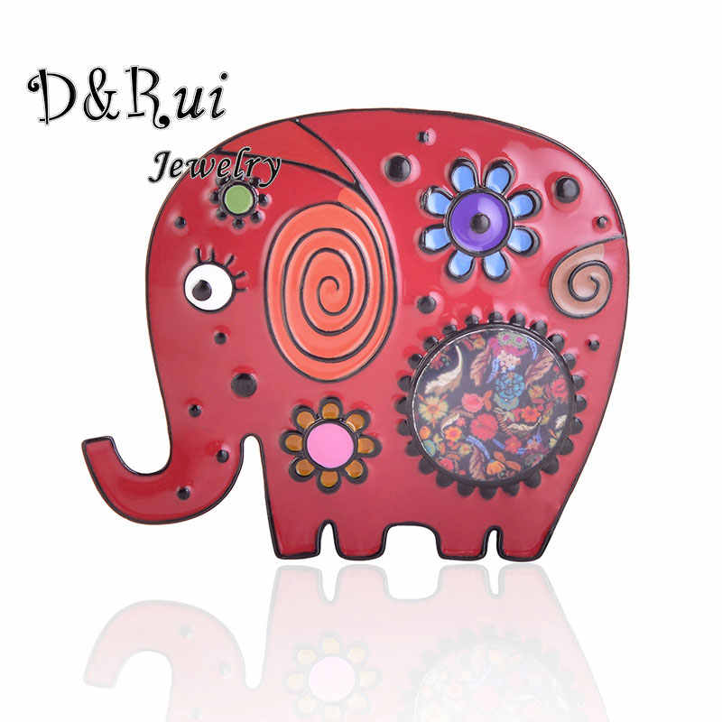 Funny Animal Elephant Brooch Pins Alloy Enamel Female Party Brooches Women Hijab Pin Up Christmas Gifts for Women Jewelry New