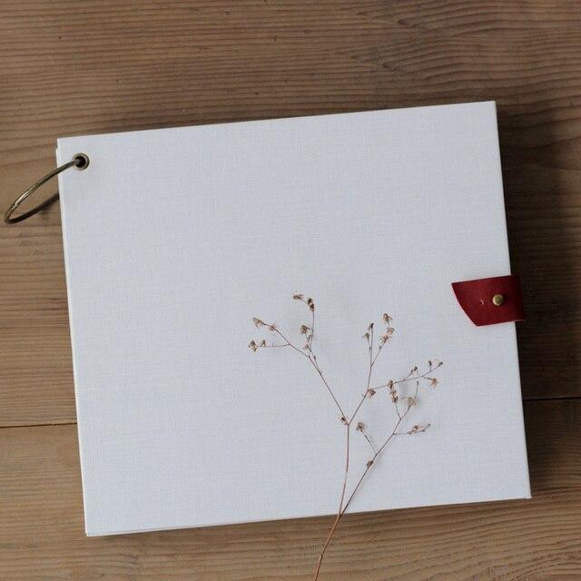 Top Scrapbooking album libri 21.7 cm * 24.2 cm square classic bianco  EE77