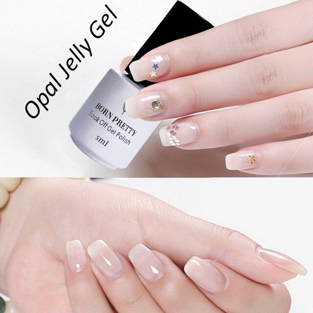 Born Pretty Opal Jelly Nail Uv Gel Polish 5ml White Soak Off