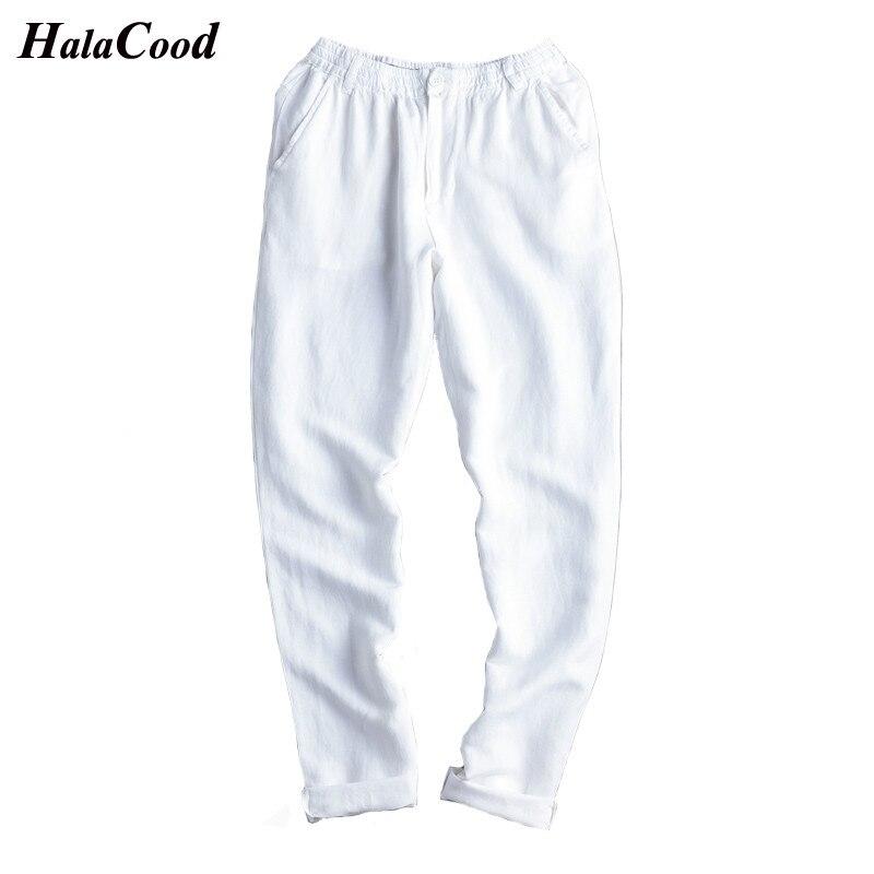 Pantalones casuales de lino de algodón de sección delgada de verano para hombres de gran tamaño pantalones de gordo.-in Pantalones casuales from Ropa de hombre    2