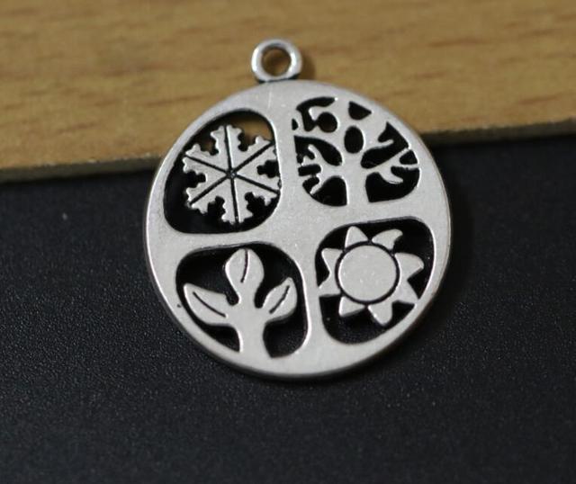 20pcs four seasons charms pendants beads for jewelry craft making 20pcs four seasons charms pendants beads for jewelry craft making diy antique silver 24x28mm aloadofball Gallery