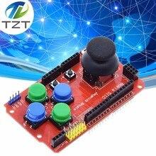 Щит джойстика для Arduino Плата расширения аналоговый клавиатура и Мышь Функция щит джойстика V1.2