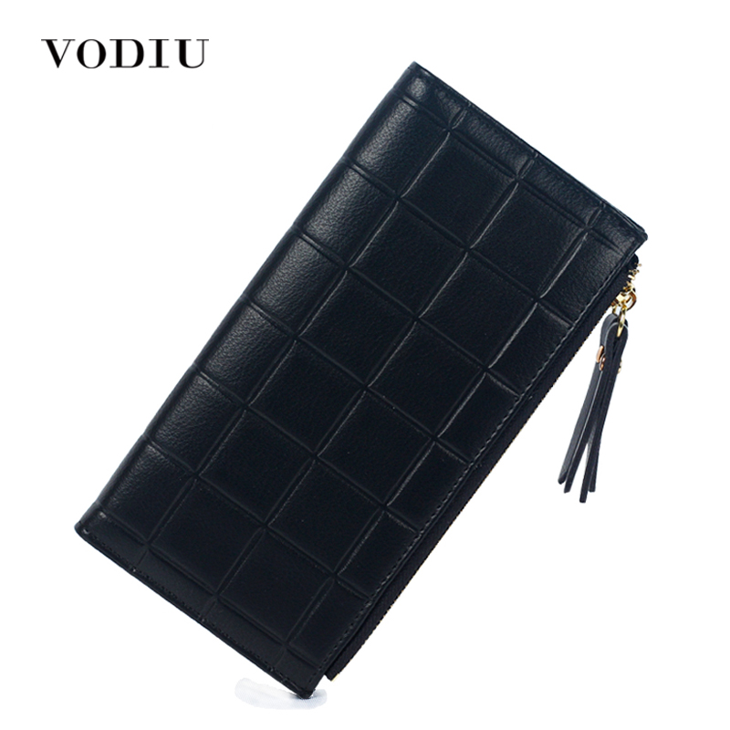 Women Wallets Leather Double Zip Long Purse Designer Brand Phone Coin Holder Card Clamp For Money Dollar Price Girl 2017 Clutch dc movie hero bat man anime men wallets dollar price short feminino coin purse money photo balsos card holder for boy girl gift