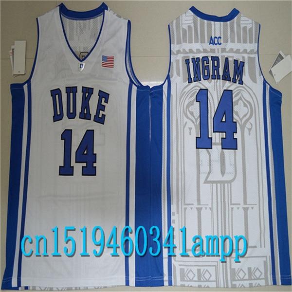 73340732b129 ... 2017 duke blue devils brandon ingram 14 college basketball  authentisches jersey weiß blau schwarz g