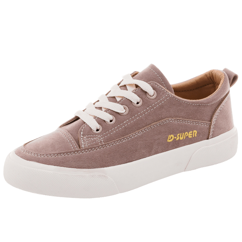 Woman Shoes New Fashion Casual Suede Leather Shoes Women Casual Breathable Color Classic Black Ladies Shoes women's Sneakers 6