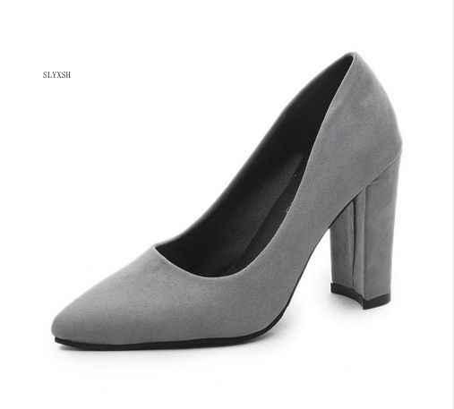 407ab9f532f SLYXSH 2019 Women Pumps Ankle Strap Thick Heel Women Shoes Square Toe Mid  Heels Dress Work Pumps Comfortable Ladies Shoes Sandal